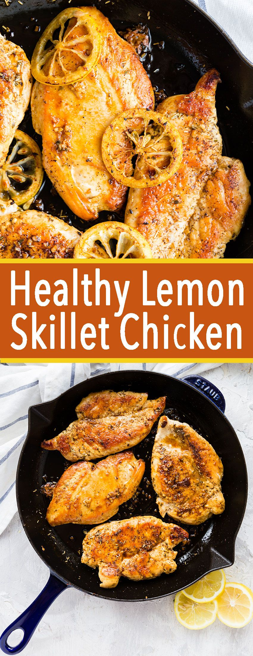 Healthy Lemon Skillet Chicken images