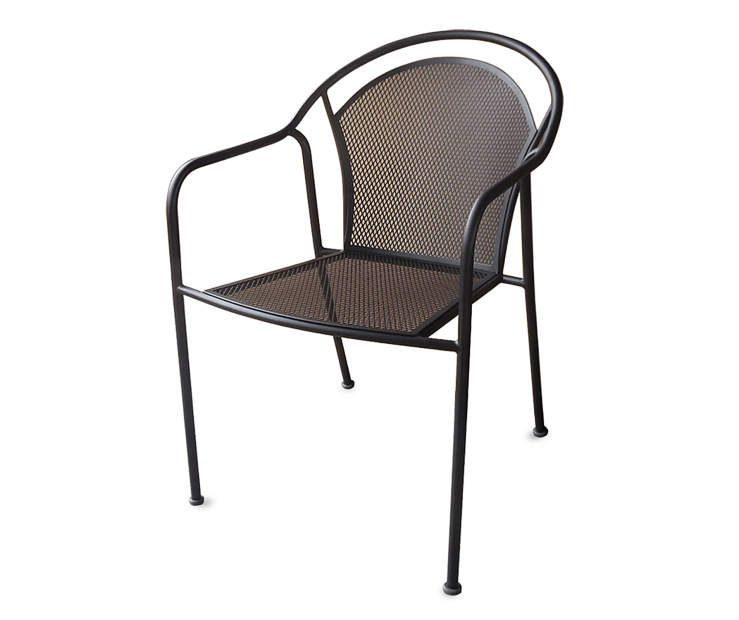 Fisher Black Mesh Stacking Patio Chair