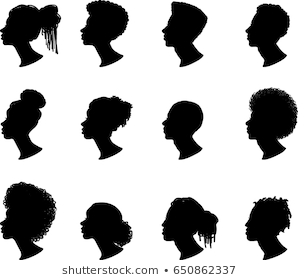 African American Profile Silhouettes Women Vector Stock Vector Royalty Free 409614283 Shutterstock Silhouette Vector Silhouette Drawing Silhouette