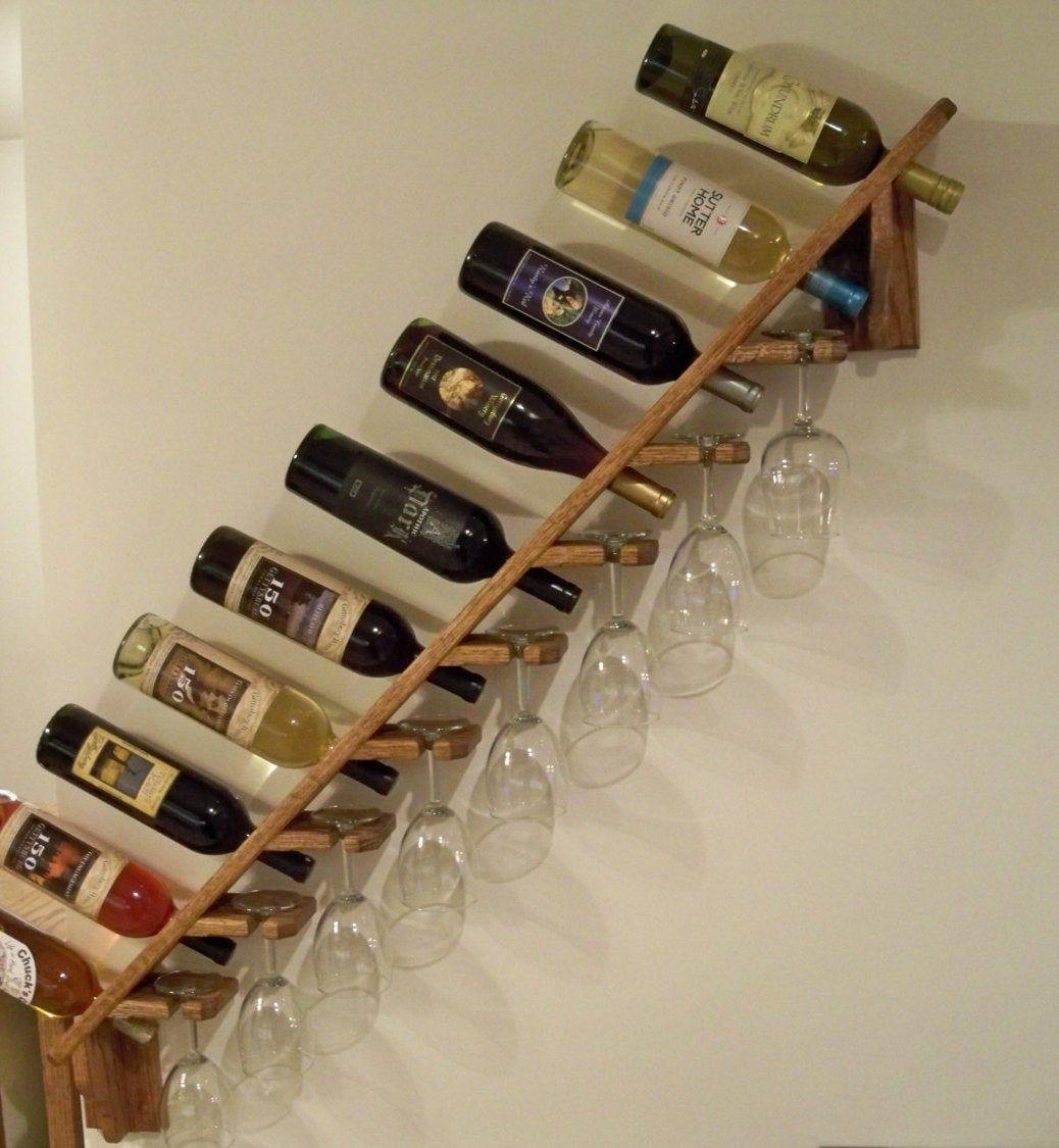 Handcrafted Solid Oak Wooden Wine Rack Large 10 Bottle 8 Etsy