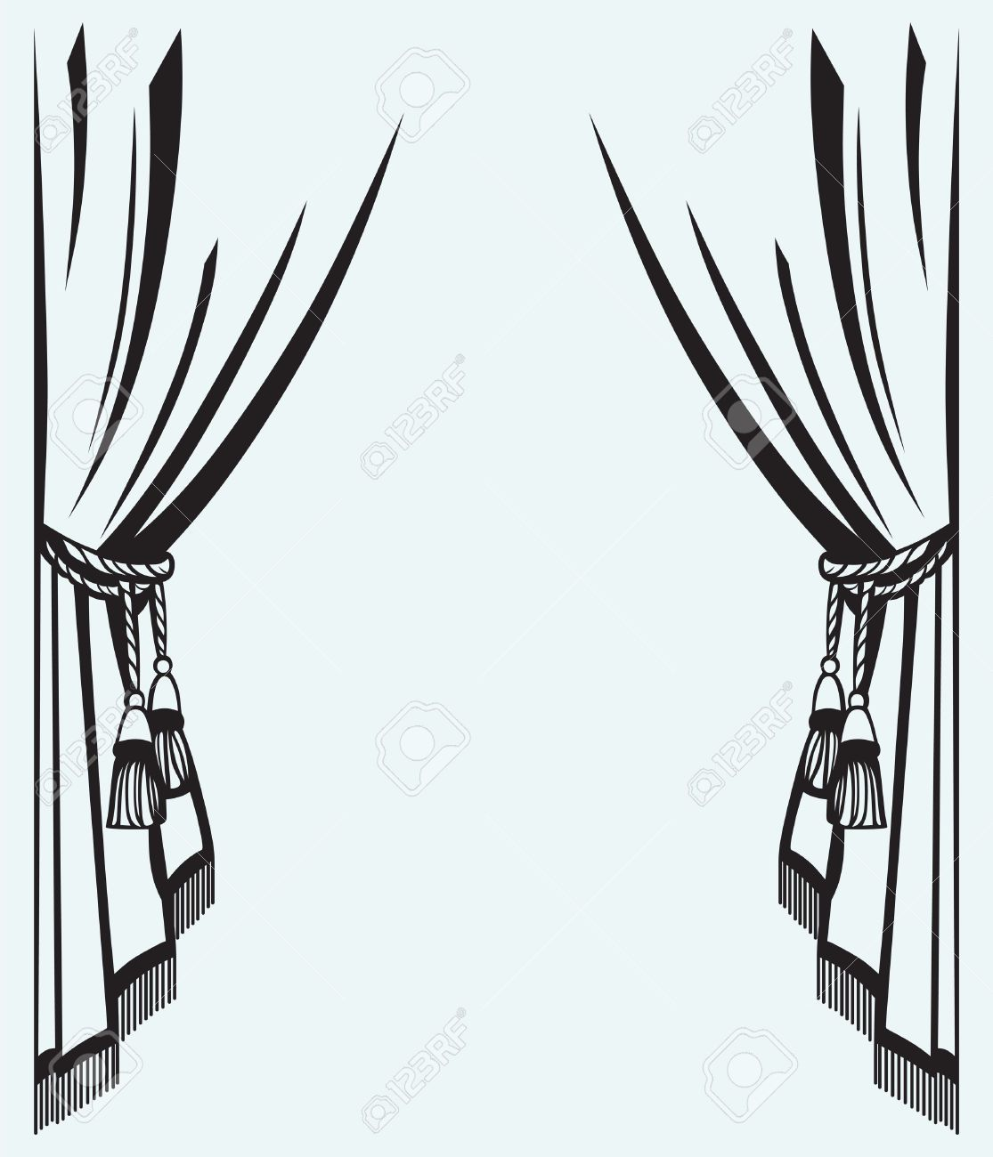 Cinema curtain line drawing vector image google search