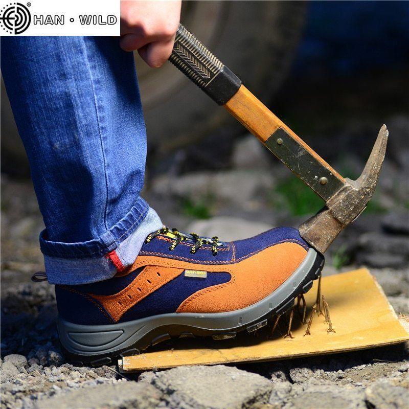 Zapatos de trabajo de seguridad Botas ocasionales respirables de hombres