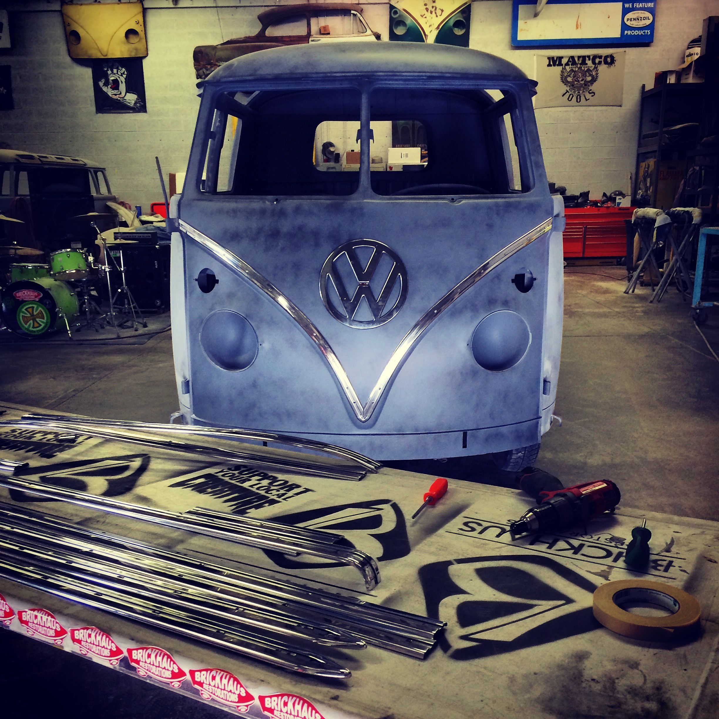 1963 Vw Double Cab Truck With Deluxe Trim Vw Split Window Bus