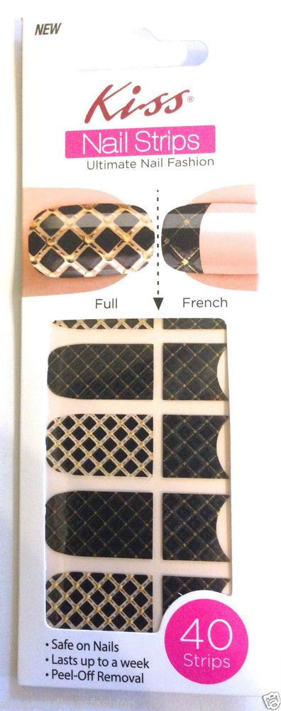 Kiss Nail Stick on Applique Strips French or Full 40 Strips # DMT ...