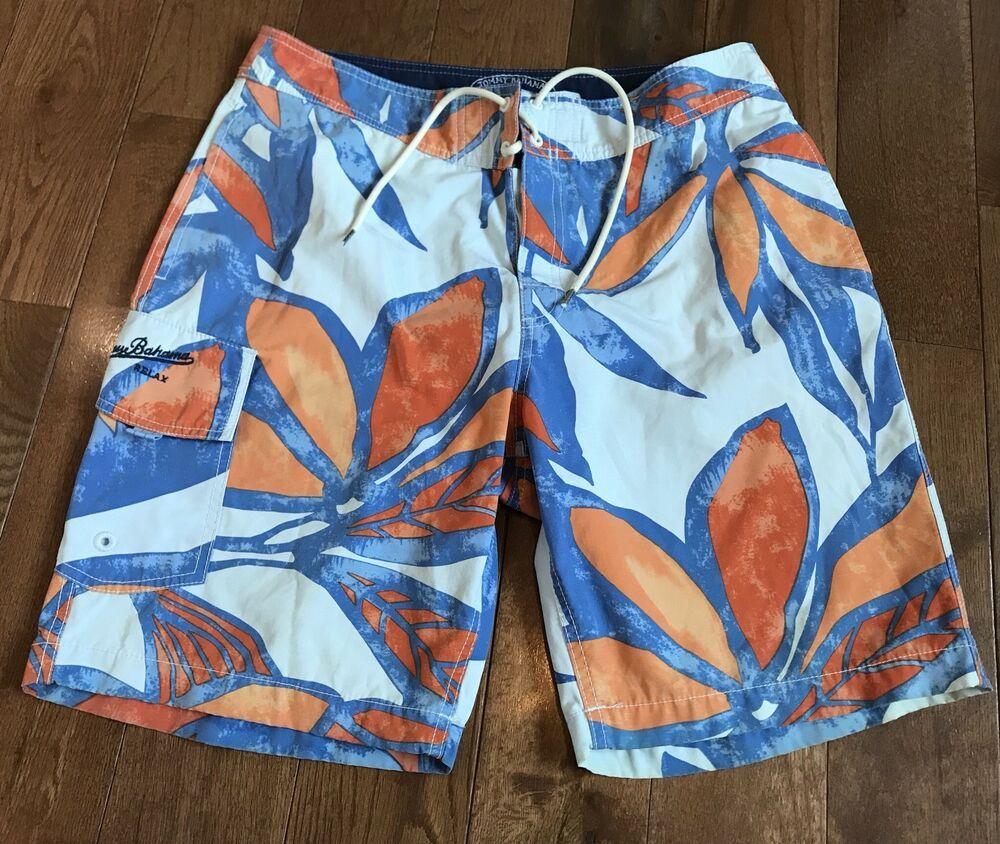 baedad4066 Mens Tommy Bahama Relax Swim Trunks Board Shorts Tropical Blue Orange 32  #fashion #clothing #shoes #accessories #mensclothing #swimwear (ebay link)