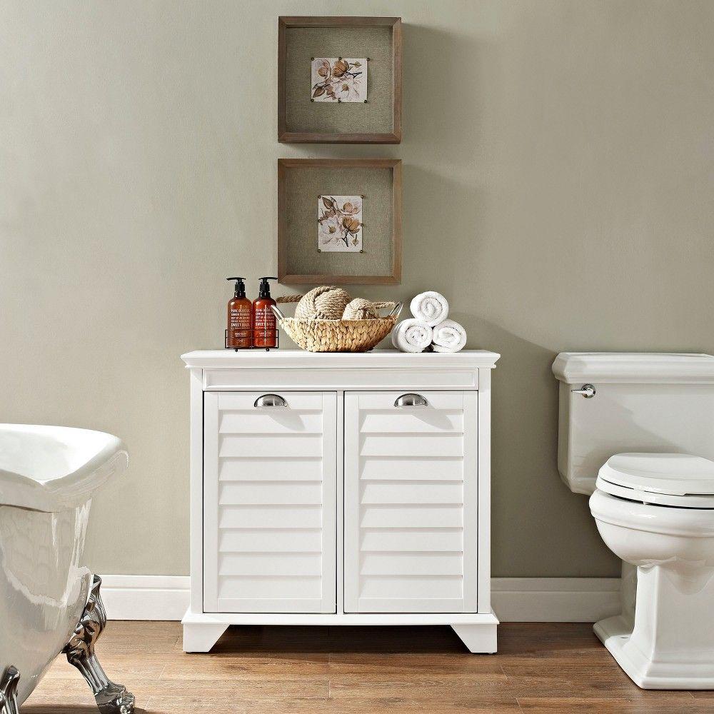 Lydia Linen Hamper In White Decorative Storage Cabinets Corner Storage Corner Storage Cabinet