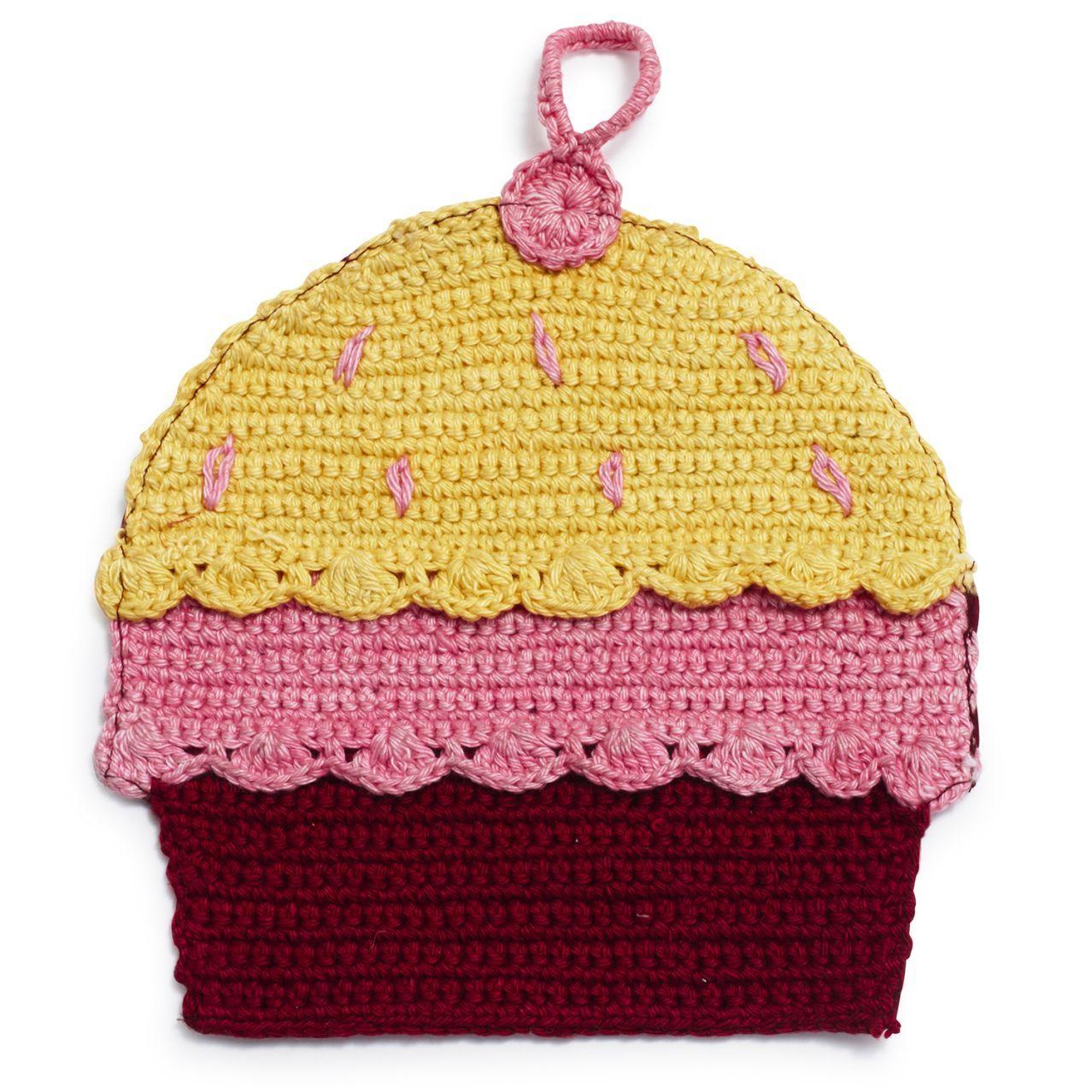 Pink Cupcake Crochet Potholder | Sur La Table | Crochet potholders ...