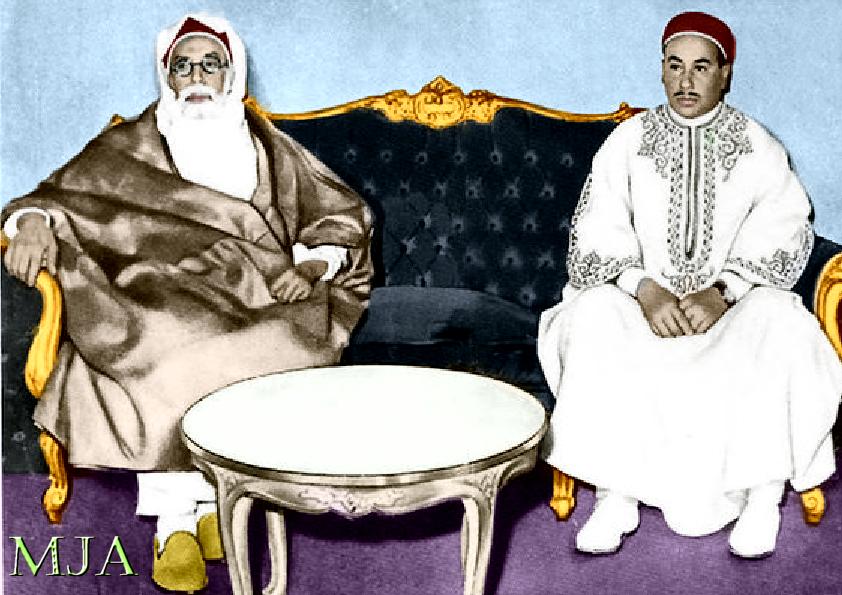 الراحلان الكبيرين الملك محمد ادريس وا ولي العهد الامير الحسن الرضا Libya History Pictures