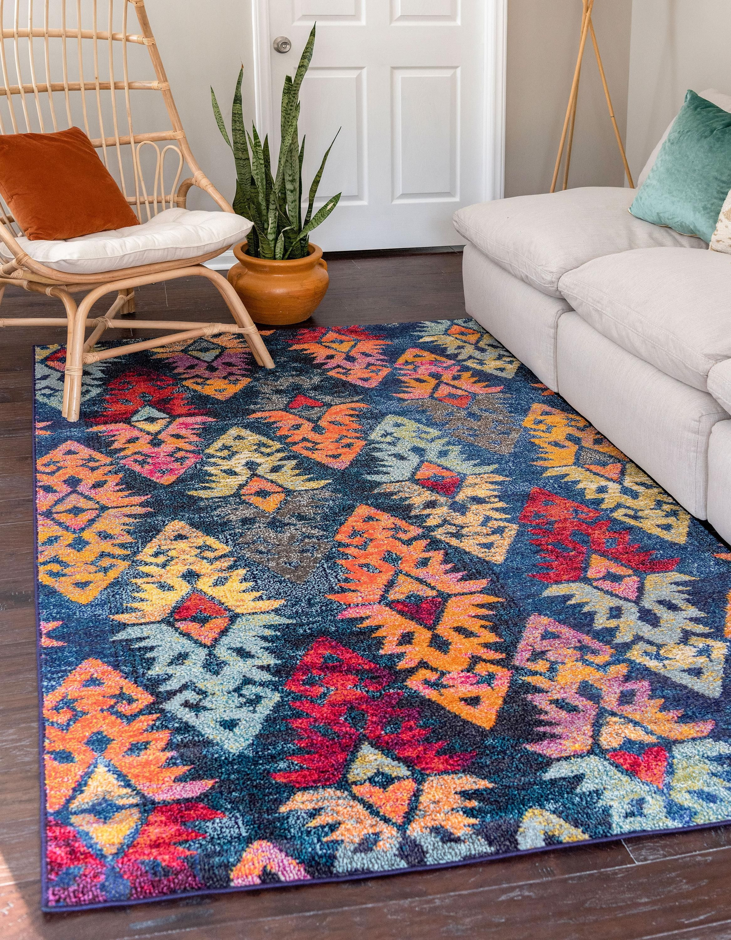 Navy Blue 9 X 12 Santa Fe Rug Affiliate Blue Navy Rug Fe Santa Sponsored In 2019 Rugs Area Rugs Shed Colours