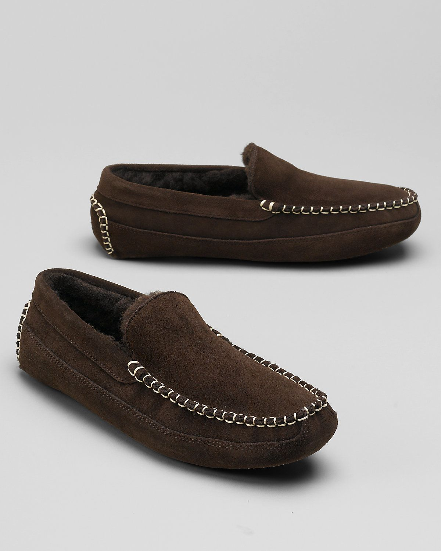 Eddie bauer woollined loafer slippers mens eddie