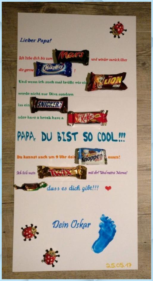 21+ Geburtstagsgeschenk fuer papa selber machen ideen