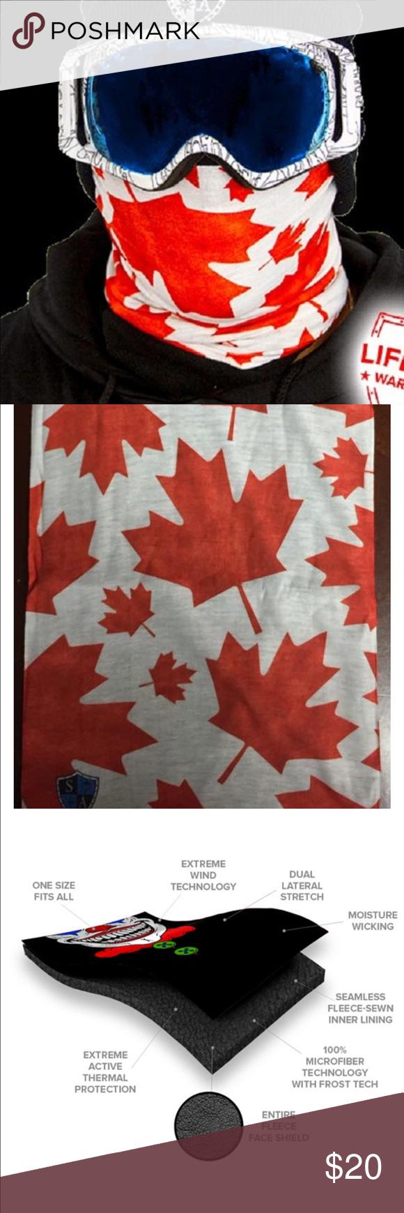 Salt Armour Canada Fleece Face Shield Balaclava NWT (With