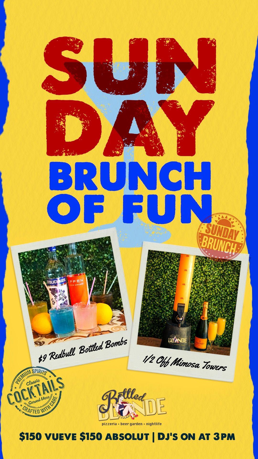 Sunday Funday Absolut Bottle Blonde Chicago Events