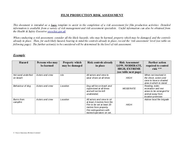 Hazard Assessment Template Emergency Evaluation Form Exercise