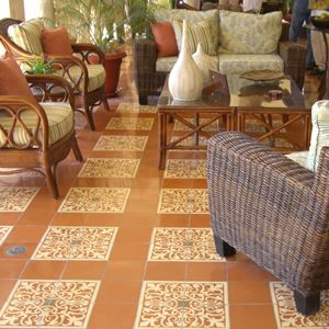 Old World Allure For A Patio With San Juan Cement Tile Las