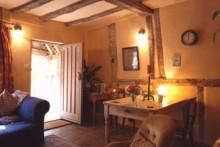 Lovely exposed beams in the holiday cottage in Suffolk