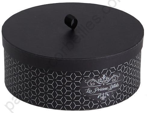 Loevenich hutkoffer Noir 50 cm Boîte à chapeau Hutkarton Boîte en carton