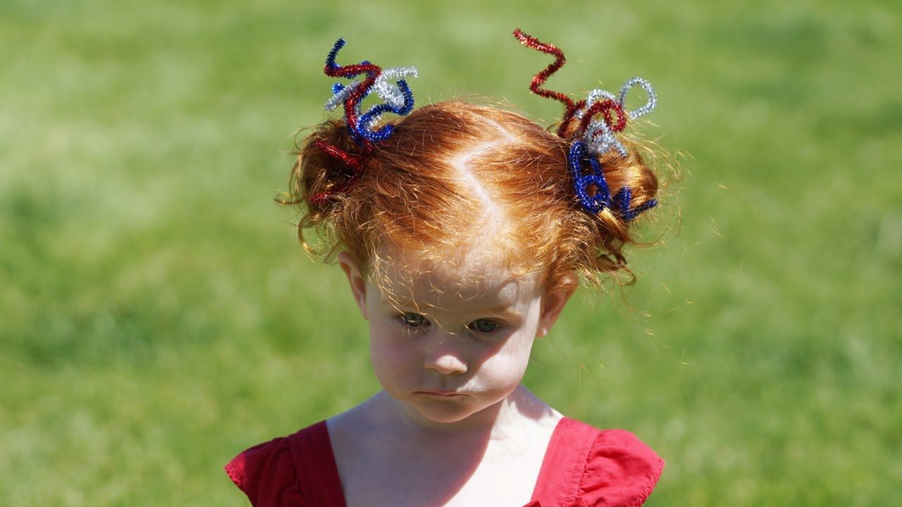 Easy th of july hair cute girls hairstyles hair pinterest