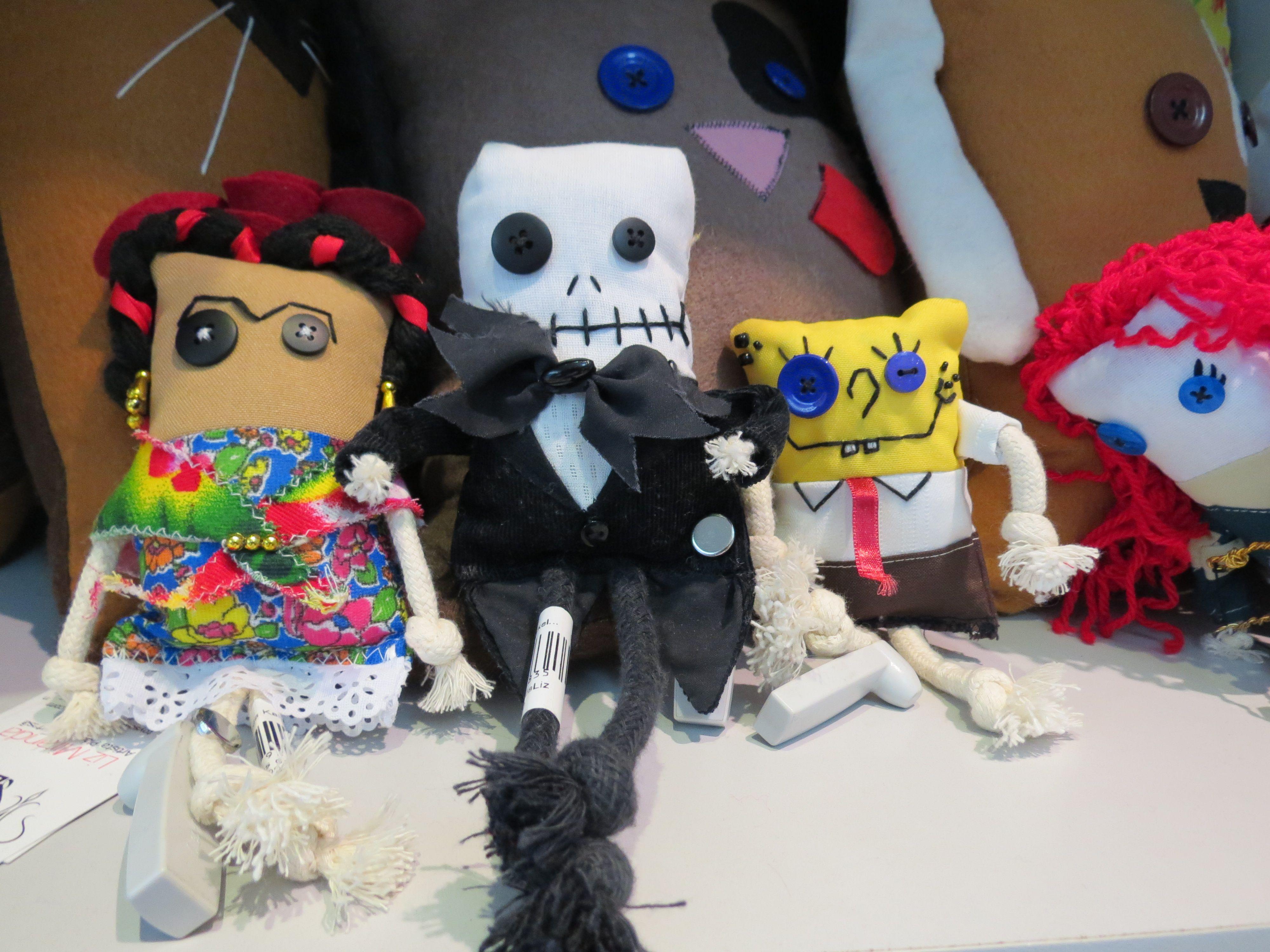 #endossa, #augusta, #presente, #gift, #boneco, #bonecodepano, #frida, #fridakahlo, #jack, #bobesponja, #spongebob