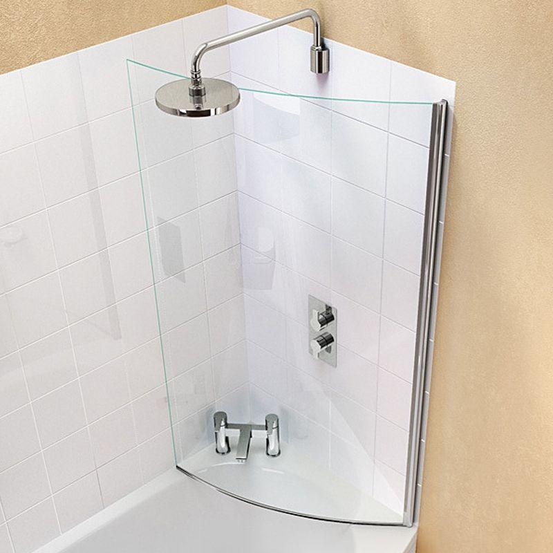 Cleargreen Ecoround Shower Bath Bathscreen 1450mm X 820mm 6mm