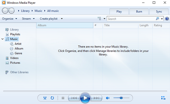 How To Fix Microsoft Windows Media Player Windows Microsoft Music Library