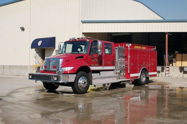 Jemison International 4000 4 Door Chassis 1000 Gallon Poly Water Tank Legacy Fs Aluminum Body Elkhart Emergency Vehicles Fire Trucks Industrial Safety