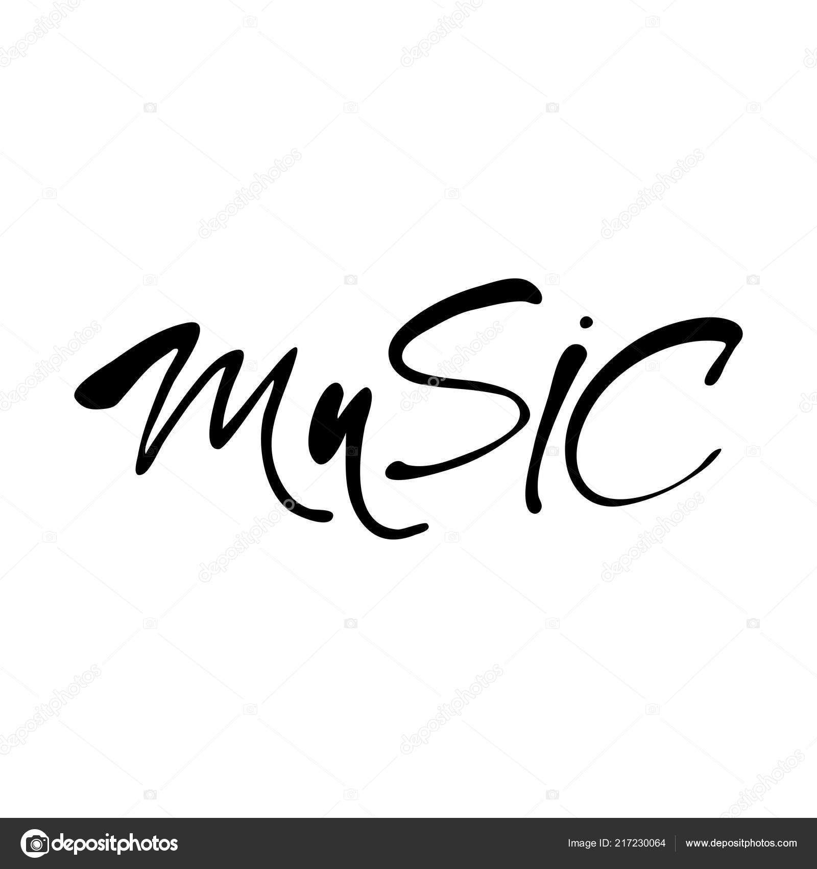 Musik Schriftzug Musik Schriftzug Wandtattoo Musik