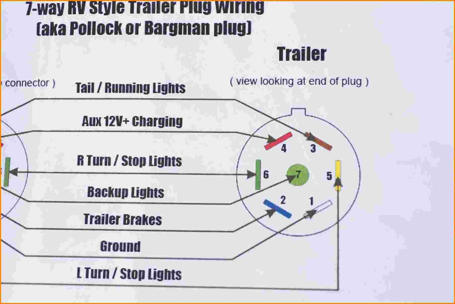 Best Of Wiring Diagram 7 Pin Trailer Plug Toyota Diagrams Digramssample Diagramimages Check Trailer Wiring Diagram Trailer Light Wiring Boat Trailer Lights