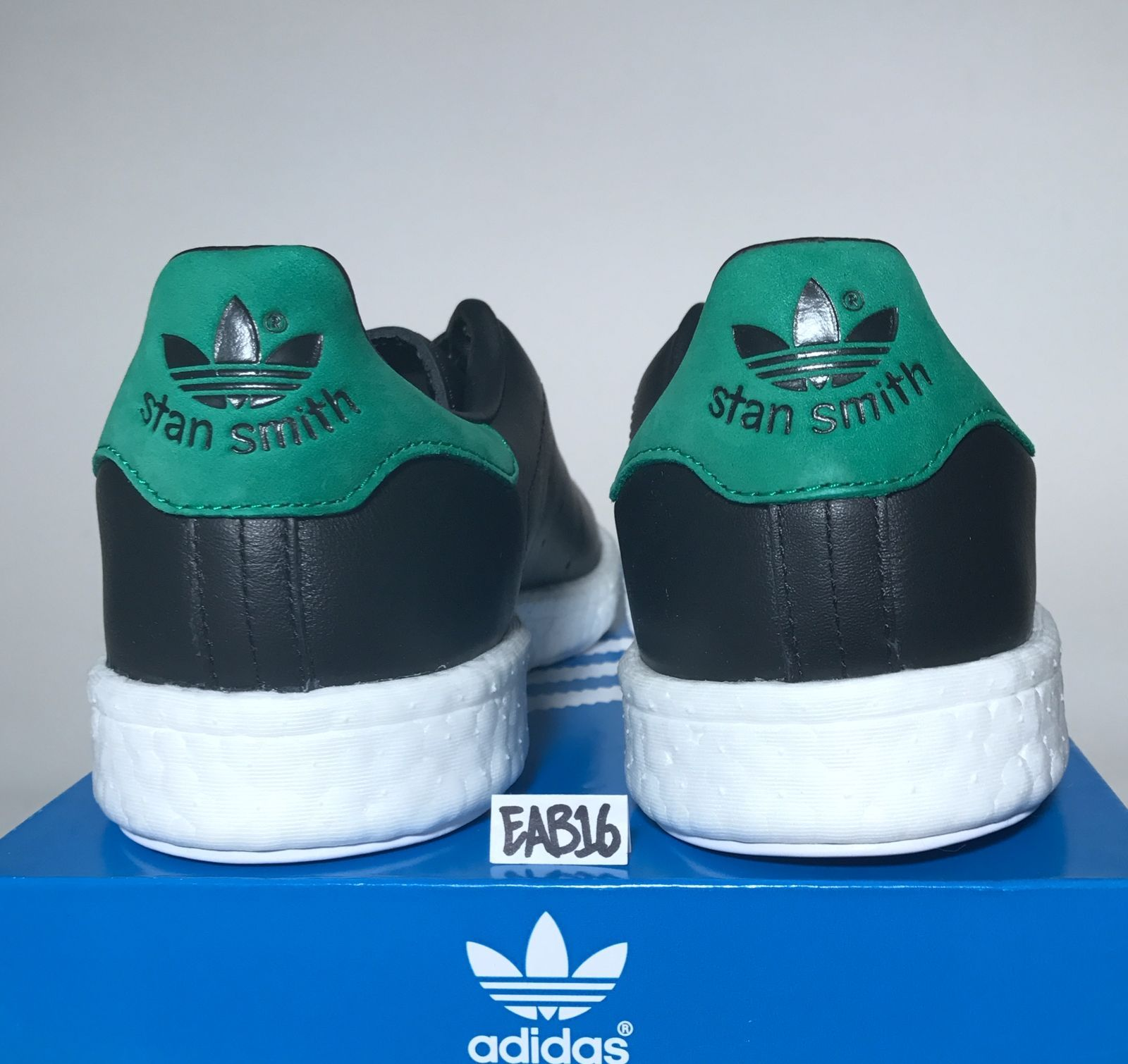 Details about Adidas Originals Stan Smith Boost Trainers Shoes BB0009 Black Green