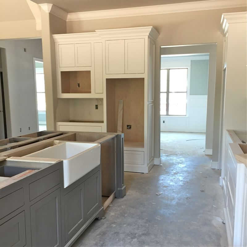 For The Cabinets, Doors And Trim, We Selected A Beautiful