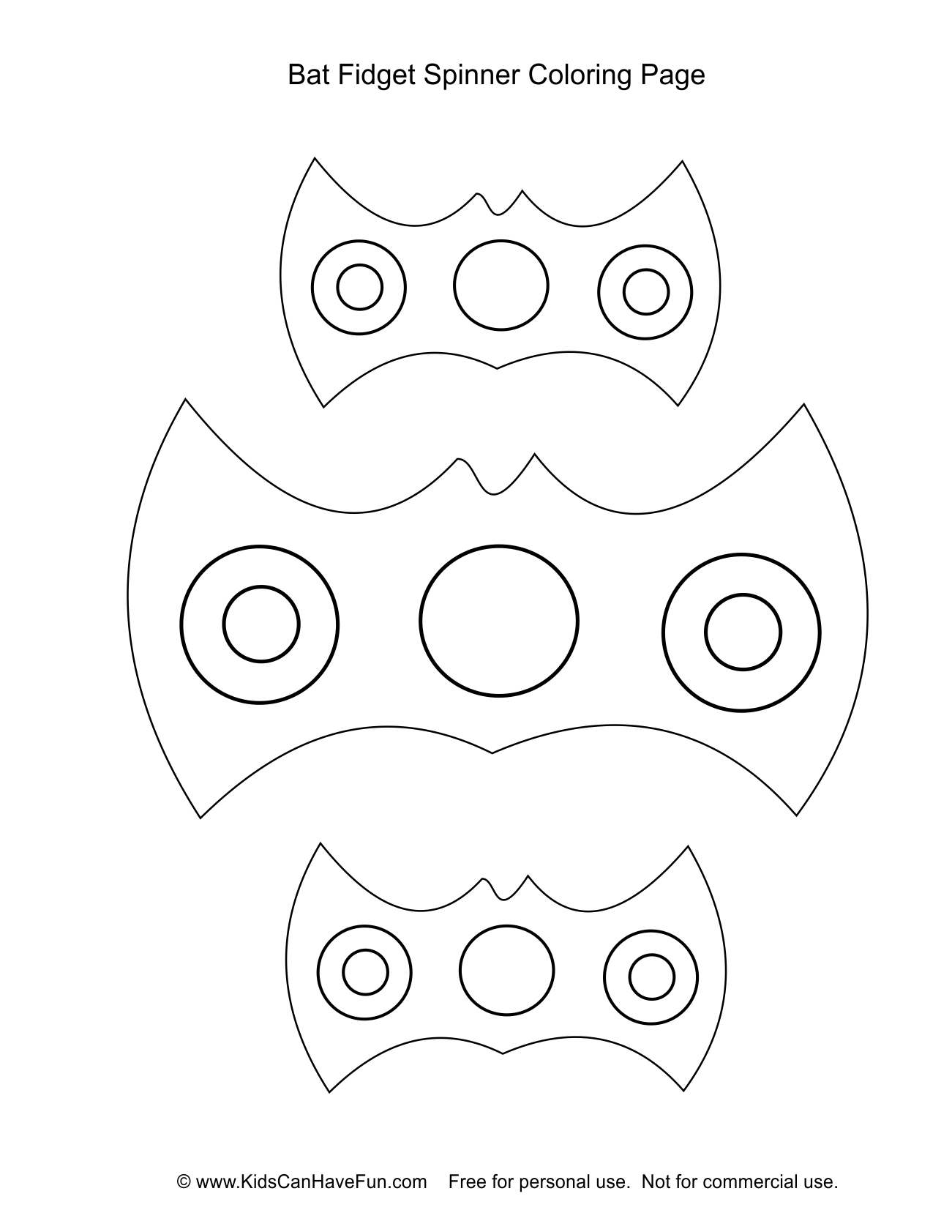 Bat Fidget Spinner Coloring Page Dscanhavefun