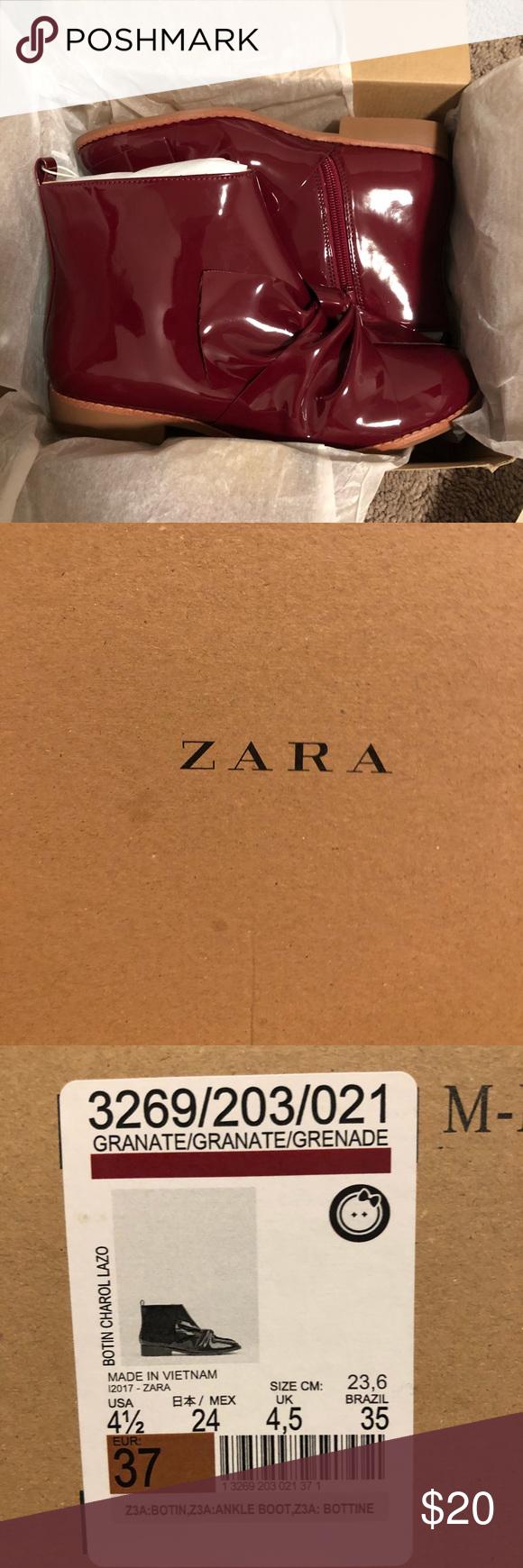 BRAND NEW** Zara Kids booties Size 4.5  Brand new red leather booties never used... ,  #Booties #BRAND #KIDS #Leather #RED #size #ZARA #zarakidsred