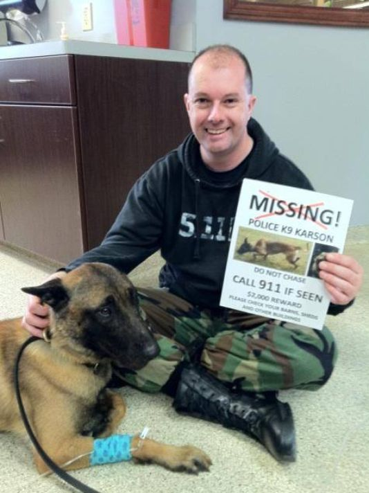 K 9 Found Police Dog Home After 2 Months Missing Police Dogs