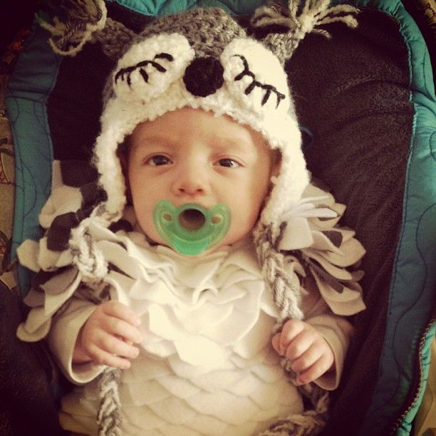 Sleepy owl- super cute halloween costume idea Babies! Pinterest - awesome halloween costume ideas