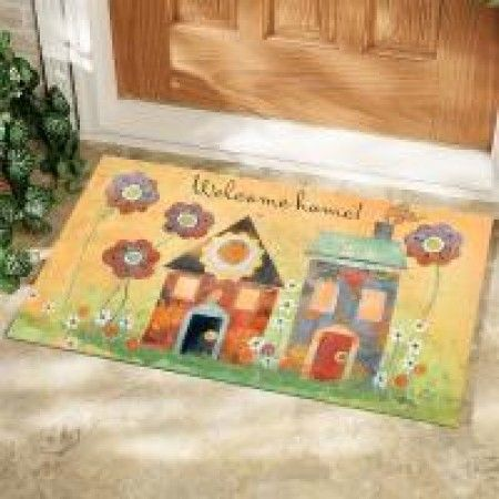 Explore Decorative Doors Door Mats and more! & Welcome Home Decorative Door Mat | Hospitality Symbols - Door Mats ...
