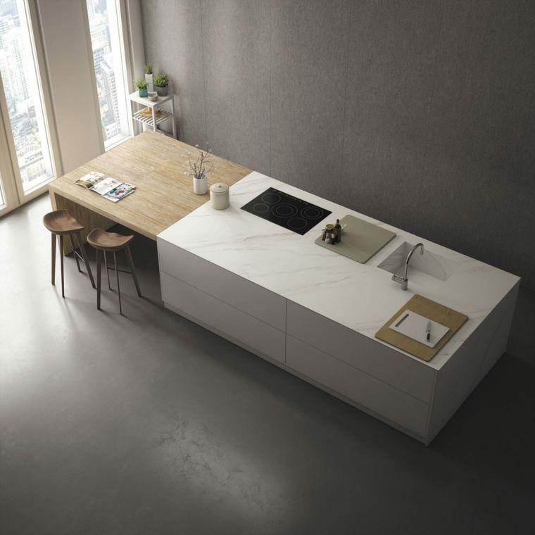 Photo cuisine avec plan de travail moderne en 65 idées | Showroom ...