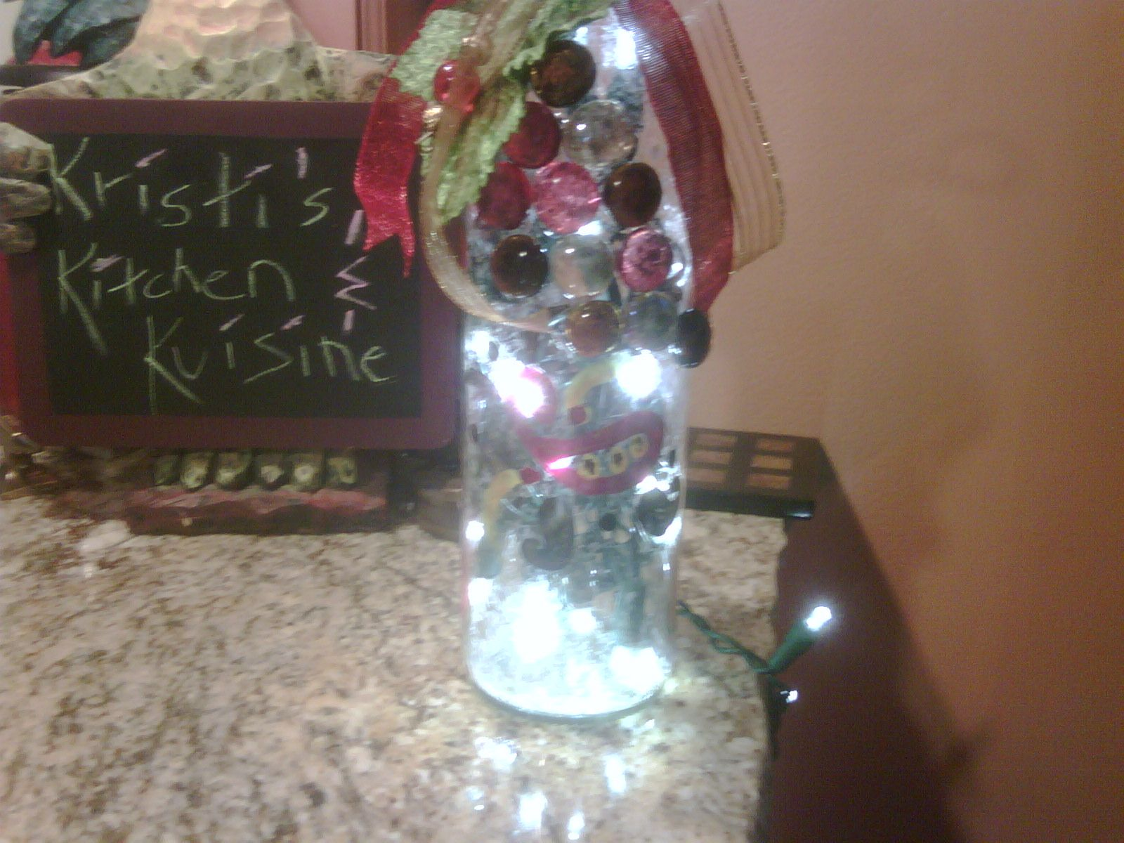Another one of my initial bottles...made for a dear friend that lives in Kansas...Julie's wine light...pic 1 of about 3