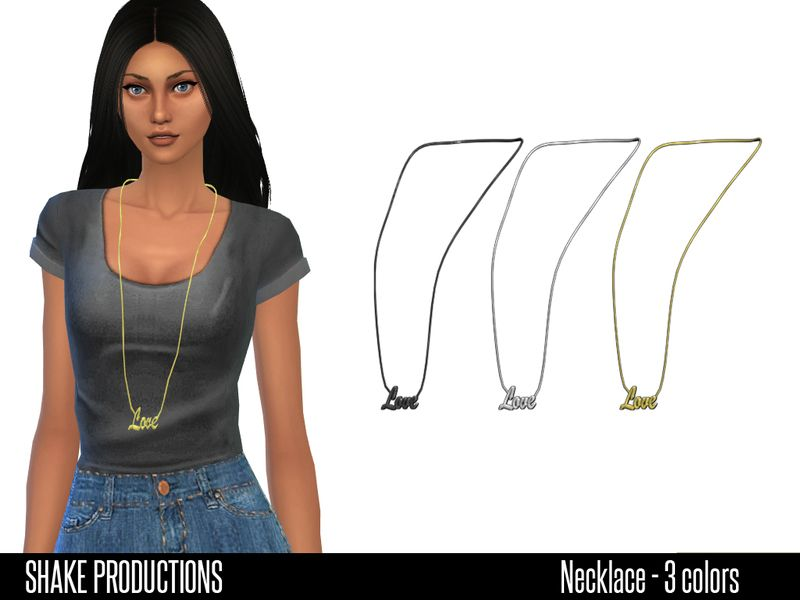 Necklace;  Found in TSR Category 'Sims 4 Female Necklaces'