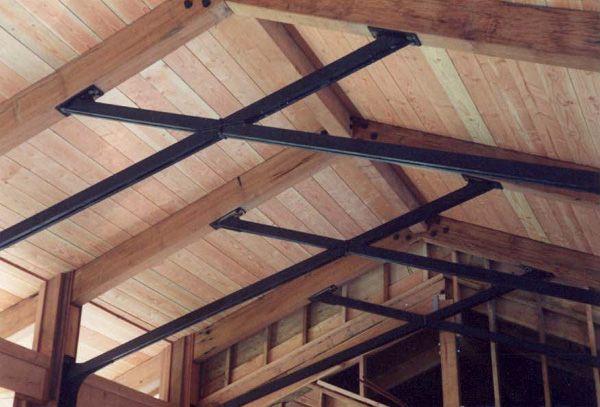 Scissor truss garage pinterest scissors ceilings for Buy roof trusses