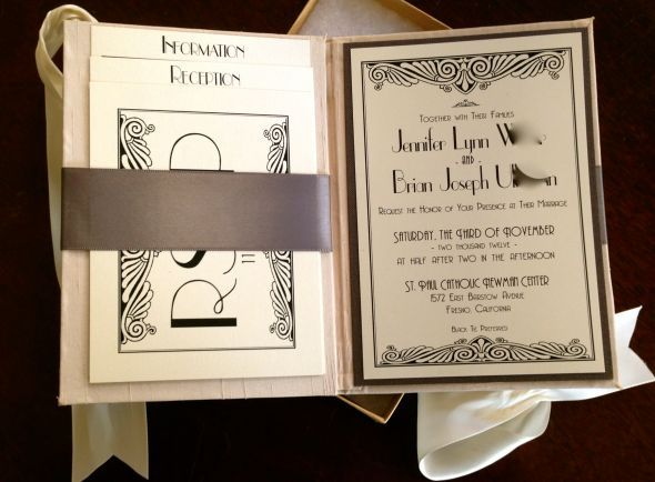 Wedding Stuff Ooooh I Like This Very Organized Love Things That Come In Their Own Box Art Deco Invitationsdiy