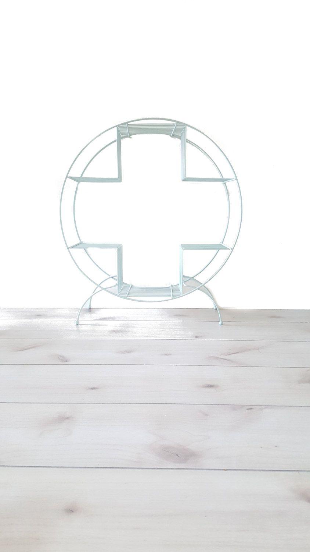 Mid Century Plant Stand ~ Circular Bookshelf ~ Book Stand ~ Wire ...
