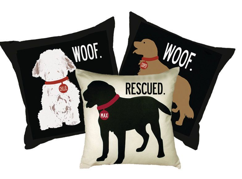 Personalized Pillow With Your Dog S Name Choose By Westeggstudio