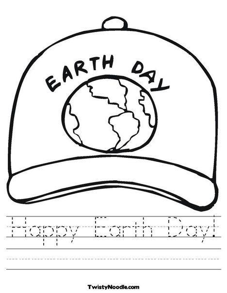 Happy Earth Day Worksheet from TwistyNoodle Earth