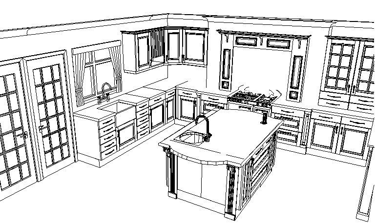 Small kitchen layout design small kitchen design for Kitchen designs layouts