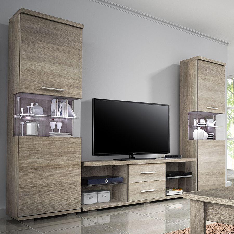 ensemble meuble tv couleur ch ne vieilli blanchi. Black Bedroom Furniture Sets. Home Design Ideas