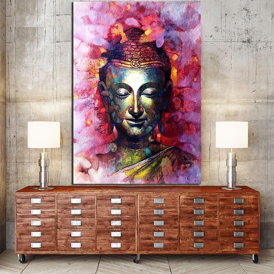Fabulous Color Splash Feng Shui Buddha Painting Canvas Feng Shui Home Interior And Landscaping Eliaenasavecom
