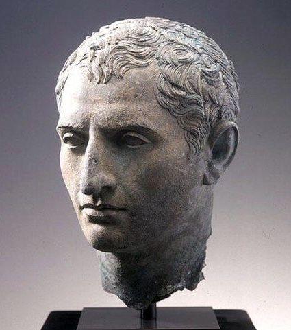 Marble Bust of Roman Emperor Augustus Gaius Julius Caesar