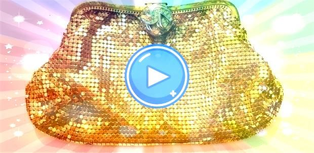 Enter with a statement  Whiting and Davis Mesh Clutch Handbag Model 2918 w Rhinestone button clasp Enter with a statement  Whiting and Davis Mesh Clutch Handbag Model 291...