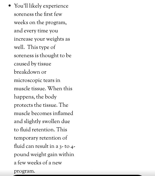 Why you gain weight when starting a program.