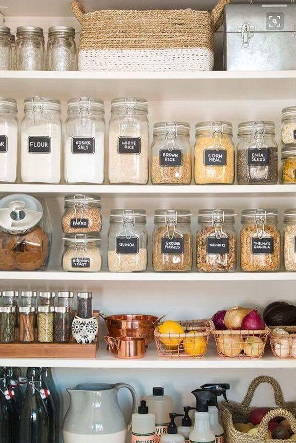 3 Secret Weapons And Ideas For Pretty Kitchen Pantry Organization This Beautifully Organized Is So Inspiring Whether You Have An Entire Or
